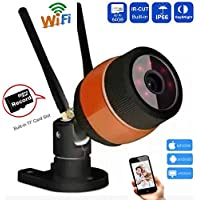 CCTV 960P HD 1.3MP Bullet Outdoor waterproof Wireless Wifi IP Camera - Network Security Surveillance Home Monitoring Motion Detection, Night Vision - iPhone Android Mobile App, built-in SD card Slot