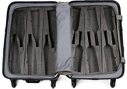VinGardeValise - Up to 12 Bottles & All Purpose Wine Travel Suitcase (Black) by VinGardeValise (Image #9)