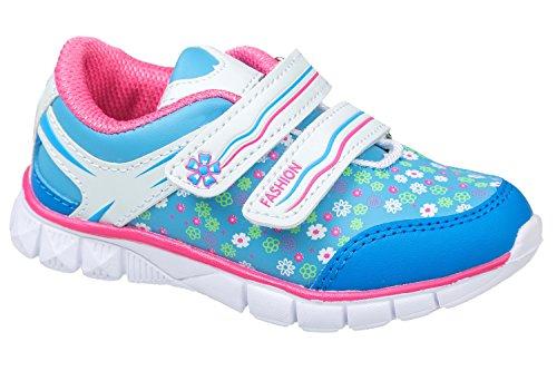 gibra - Zapatillas de Material Sintético para niño azul y rosa