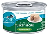 Purina ONE Cat Food Classic Turkey Recipe Premium Pate, 3-Ounce (Pack of 24), My Pet Supplies