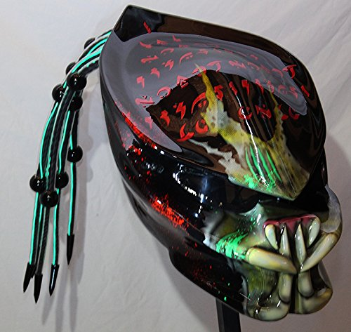 Fiber Optic Green Predator Helmet