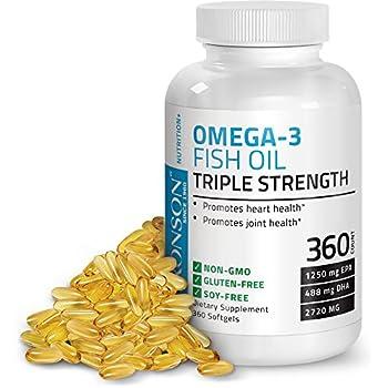 Amazon.com: Bronson Omega 3 Fish Oil Triple Strength 2720 ...