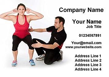 2500 Personal Trainer Fitness Instructor Gym Personnalis Cartes De Visite