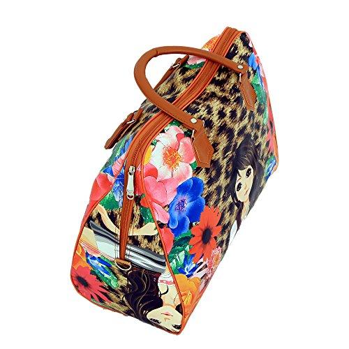 kuwer Industries Frauen Elegantes Handheld geräumiges Gepäck Reise Duffles, Mehrzweck-Digital Bedruckte Tasche Farbe & drucken kann variieren Da Pro Verfügbarkeit