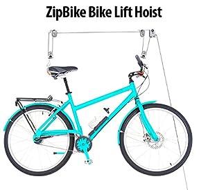 ZipBike Bike Lift Hoist- Premium Ceiling Mounted Mountain Bicycle Hoist For Garage Storage- Top Sturdy Safe Design 100LB Capacity For Ceiling Bike Storage- ...  sc 1 st  Amazon.com & Amazon.com : ZipBike Bike Lift Hoist- Premium Ceiling Mounted ...