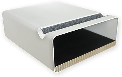 Soporte de pared para bicicleta - V Shelf blanco, diseño elegante - aluminio recubierto en polvo y una
