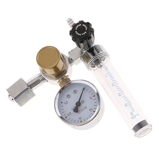 2xArgon Ar CO2 Gas Flow Meter Regulator For Mig Tig Welder Inlet Connection