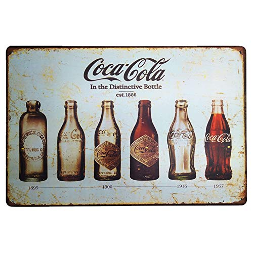 ca Coca Drink Decorative MetalIron Home Office Bar Shop Plaque House Cafe Gift Retro Style Back Wall Creative Restaurant 12 X 8 ()