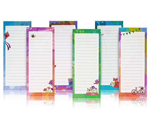 Charming Magnetic Notepads 6 Pack – To Do List, Grocery list, Perfect Housewarming Gifts, Thank You Gifts, Office Supplies – by PRTSupply