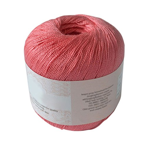 Bluelans Mercerized Cotton Cord Thread Yarn for Embroidery Crochet Knitting Lace (Cotton Yarn Lace)
