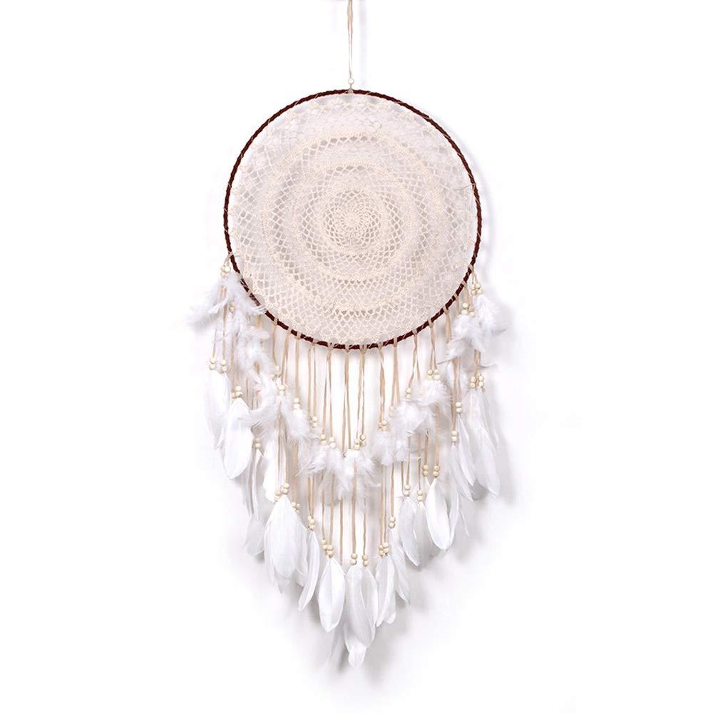 Jeterndy Dreamcatcher Large Handmade Feathers Dream Catcher for Kids Bedroom Wall Hanging Decor Boho Wedding Decor-11040cm Wind Chimes (Color : Beige, Size : 40110cm) by Jeterndy
