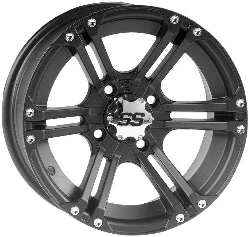ITP SS212 Wheel - 12x7 - 2+5 Offset - 4/110 - Black , Bolt Pattern: 4/110, Rim Offset: 2+5, Wheel Rim Size: 12x7, Color: Black, Position: Rear 1228365536B (Ss Atv Rims)