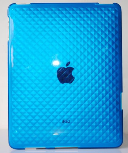 - Blue Diamond Wave Premium Crystal Candy TPU Silicone Skin Case for Apple Ipad + Precut LCD Screen Protector