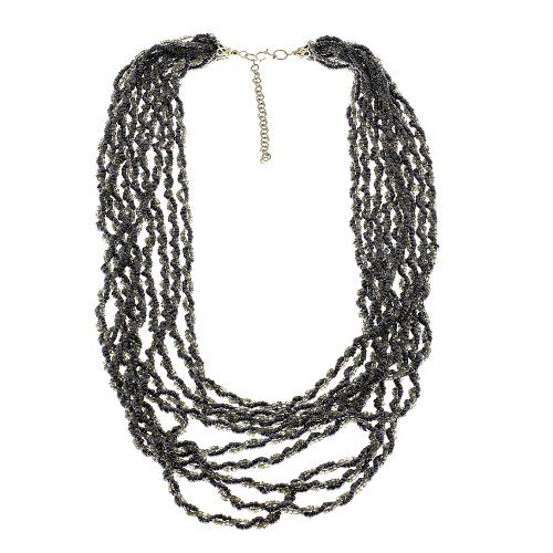 Fashion And Costume Jewellery In India (Black Bead Cluster fashion jewelry necklace Handmade in India)