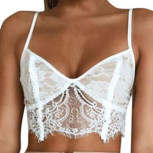 (Rakkiss Women Sexy Bra Solid Lace Lingerie Hi-Neck Exquisite Underwear Sleepwear Bodysuit Top Vest)