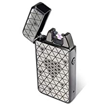 Padgene Double Electronic Pulse Arc Cigarette Lighter