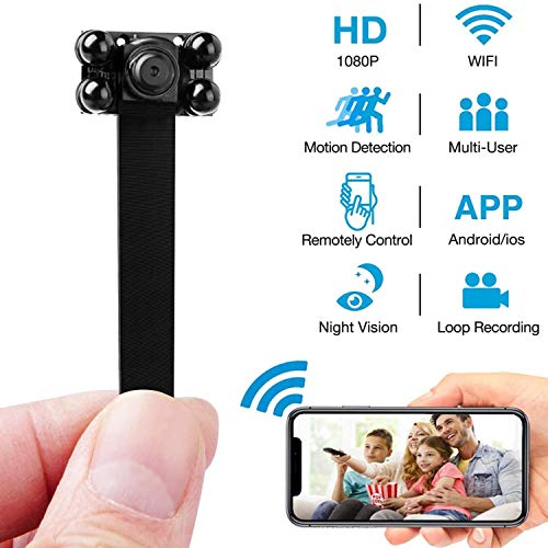 Mini Hidden Camera- Mini Spy Camera -Small Spy Cameras Wireless – 1080P WiFi Mini Camera – Covert Home Monitoring – Security Surveillance Cams with Cell Phone App