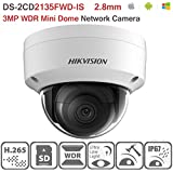 Hikvision IP Camera DS-2CD2135FWD-IS 2.8mm 3MP Original H.265 English Ultra-Low Light Mini Dome Security Camera Audio H.265 IP67