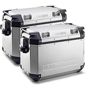 Givi OBK48APACK2 Baúl de Aluminio Lateral Trekker Outback 48, Monokey a 48 Litros, Aluminio, Carga Máxima A 10 kg