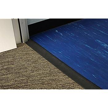Amazoncom RB Rubber Black Beveled Rubber Flooring Edge Reducer - Doorway floor divider