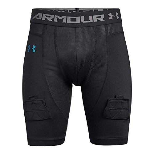 Under Armour Boys Hockey Compression Short, Black (001)/Iridescent Foil, Youth Large ()