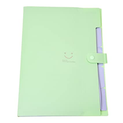 SODIAL(R) Kawaii FoldersStationery Carpeta File Folder 5layers Archivadores Rings A4 Document Bag Office