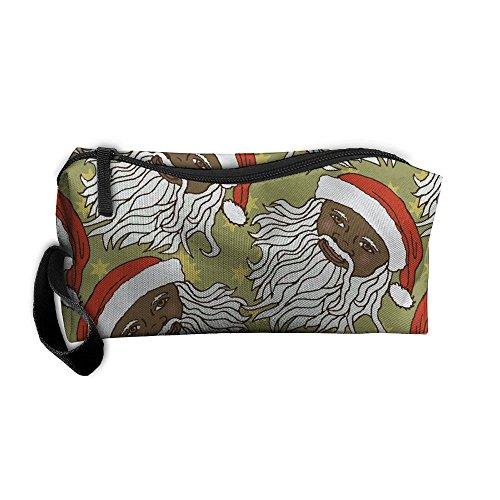CILENTAAFGING Black Santa Toiletry Bag Classic Novelty