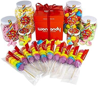Wonkandy Happy Birthday - Pack de dulces para cumpleaños - Surtido golosinas y chuches variadas: Amazon.es: Alimentación y bebidas