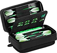 Viper by GLD Products Casemaster Plazma Pro Dart Case with Black Zipper for Soft and Steel Tip Darts, Holds 6