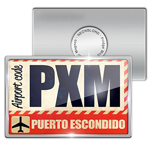 fridge-magnet-airportcode-pxm-puerto-escondido-neonblond