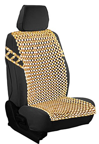 Zento Deals Natural Royal Wood Bead Seat Cover Massage Cool Premium Comfort Cushion (Beaded Seat Covers For Cars compare prices)