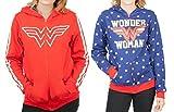Wonder Woman Reversible Juniors Zip Up Hoody L