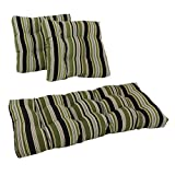 Blazing Needles Squared Patterned Spun Polyester Tufted Settee Cushions Set, Set of 3, Eastbay Onyx offers