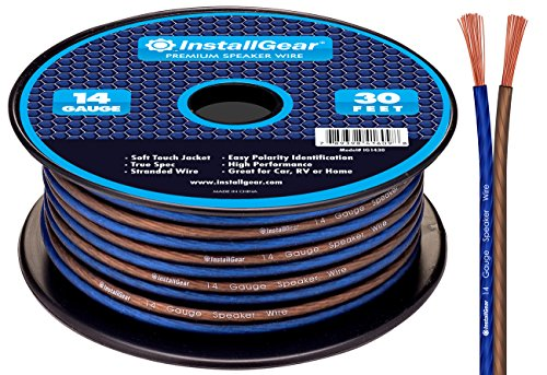 Strand 30' Spool - InstallGear 14 Gauge AWG 30ft Speaker Wire True Spec and Soft Touch Cable