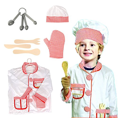 OUBEI Kids Role Play Costume Set Leaning Pretend Halloween Costume 3-7 Years -