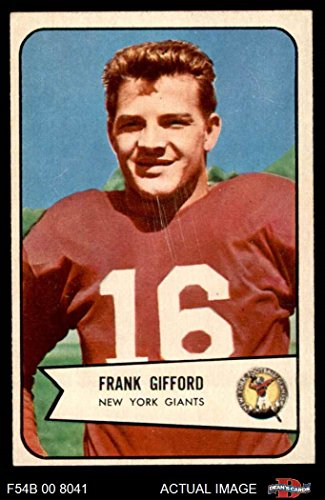 1954 Bowman # 55 Frank Gifford New York Giants-FB (Football Card) Dean's Cards 6 - EX/MT - 1954 Football Cards