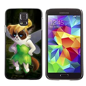 Designer Depo Hard Protection Case for Samsung Galaxy S5 / Grumpycat Fairy