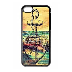 Qxhu The Faithful Anchor Quotes Snap-on Cover Hard Carrying Case for Iphone 5C