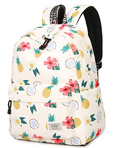 School Bookbags for Girls, Cute Pineapple Backpack College Bags Women Daypack Travel Bag by Leaper (Beige)