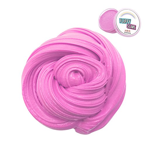 Fluffy Slime - Jumbo Floam Slime Sludge Toy Satisfying Slime Scented Stress Relief Toy for Kids and Adults Soft Stretchy and Non-sticky 7 OZ Pink