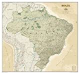 National Geographic: Brazil Executive Wall Map (41 x 38 inches) (National Geographic Reference Map)