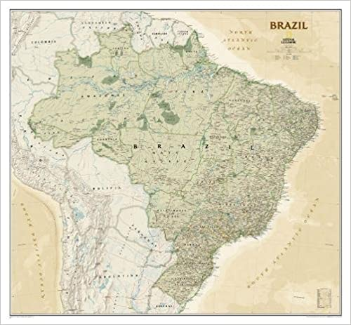 Brazil executive tubed national geographic reference map brazil executive tubed national geographic reference map 2011th edition gumiabroncs Gallery