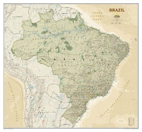 Brazil Executive [Tubed] (National Geographic Reference Map)