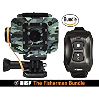 WASPcam Camo Edition 9906 Action-Sports Camera, Camouflage (The Fisherman Bundle)