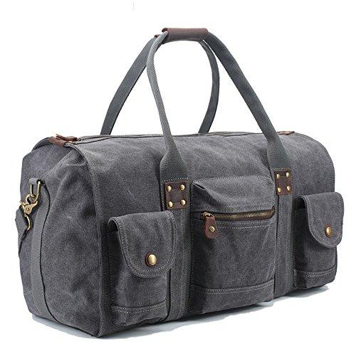 Ybriefbag Unisex Canvas Traveling Bag, Retro, Large Capacity Traveling Bag, Canvas Hand-held Men's Traveling Bag. Vacation by Ybriefbag (Image #4)