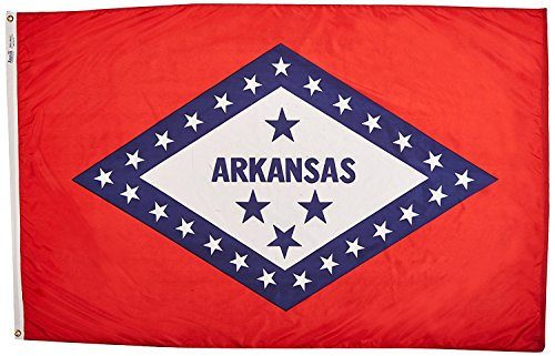Annin Flagmakers Model 140360 Arkansas State Flag 3x5 ft. Ny