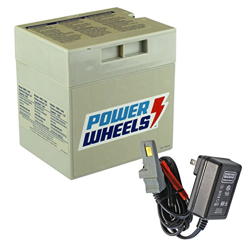 Power Wheels Gray 12V Battery + 12 Volt Gray Charger w/ Probe 00801-1480