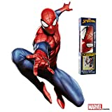 Marvel Spider-Man Wall Decal - Augmented Reality Spiderman Wall Decals For Bedroom - Avengers Bedroom Wall Decor - Sticker For Wall Decoration For Kid's Room