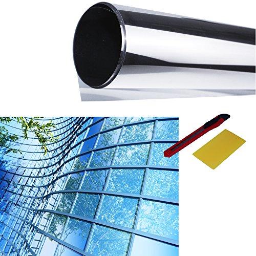 Spiegelfolie 122x200cm Sonnenschutzfolie Spionfolie UV Sichtschutzfolie Fensterfolie Tönungsfolie