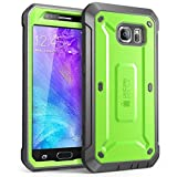 Galaxy S6 Case, SUPCASE Full-body Rugged Holster Case with Built-in Screen Protector for Samsung Galaxy S6 (2015 Release), Unicorn Beetle PRO Series - Retail Package (Green/Gray)